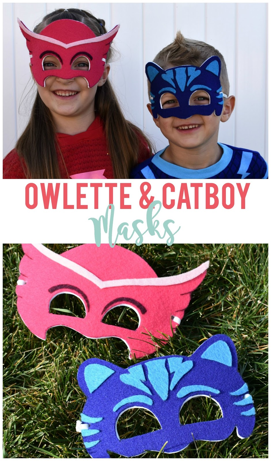 Diy owlette and cat boy masks pj masks sunshine and munchkins if your kids are pj masks watchers like mine youve probably heard this song more times than you can count and maybe your kids want to solutioingenieria Image collections