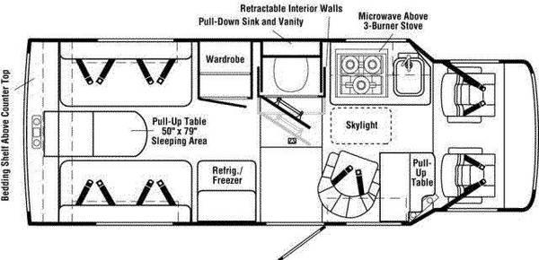 1999 Winnebago Rialta 22HD layout