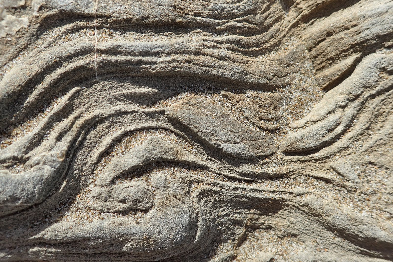 Rock layers on the coast