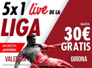 suertia promocion 30 euros Valencia vs Girona 3 noviembre