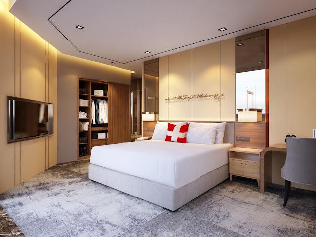 Phòng ngủ căn hộ dự án Swisstouches La Luna Nha Trang
