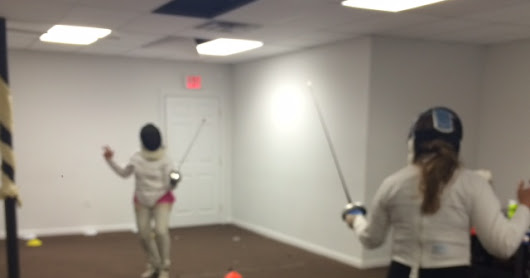 Fitness Fencing in the Lofts with Julie and Roni: April 2016