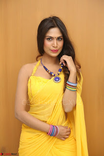 Nishigandha in Yellow backless Strapless Choli and Half Saree Spicy Pics 161.JPG