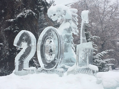 Sepsiszentgyörgy, jégszobor, IceArt Romania, Iulian Tănase, jégsárkány