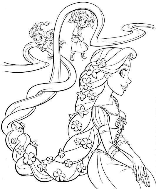 tranh tô màu công chúa Disney 17