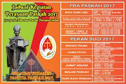 Jadwal Rangkaian Paskah 2017