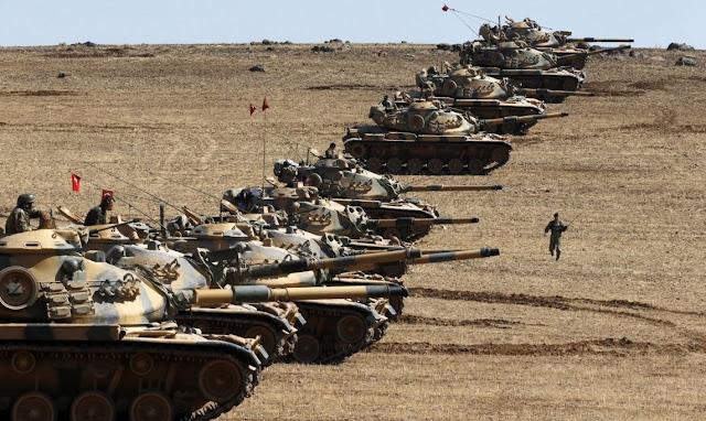 Τουρκικά Μ60 κατά την έναρξη της επιχείρησης