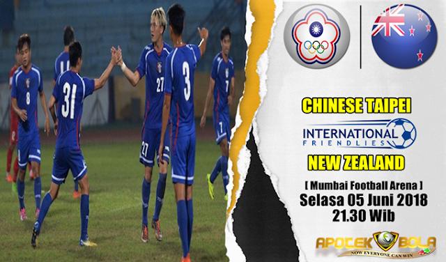 Prediksi Chinese Taipei vs New Zealand 5 Juni 2018