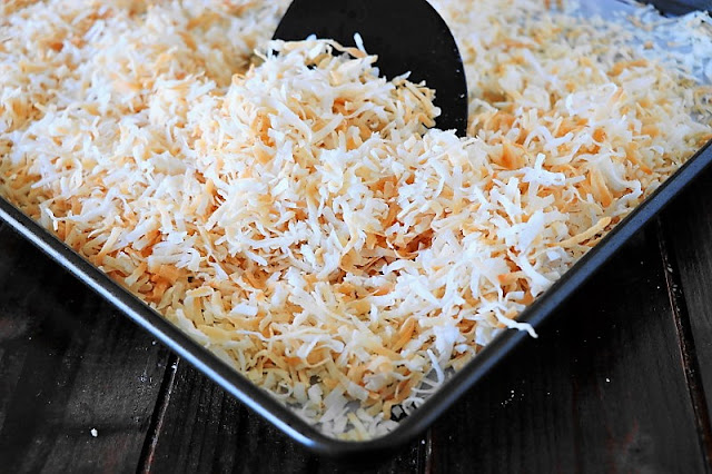 Toasted Coconut on Baking Pan Image