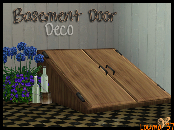 My Sims 3 Blog: Decorative Basement Door By Louma