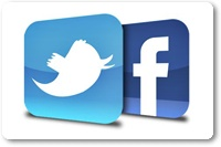 Pop-Up Facebook Like Box With Twitter Button