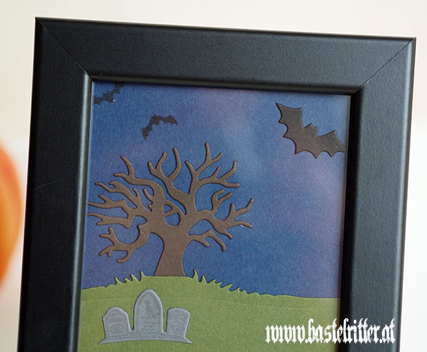 halloween szenerie bilderrahmen bastelritter stampin up