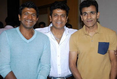 Raghavendra Rajkumar with his Brothers