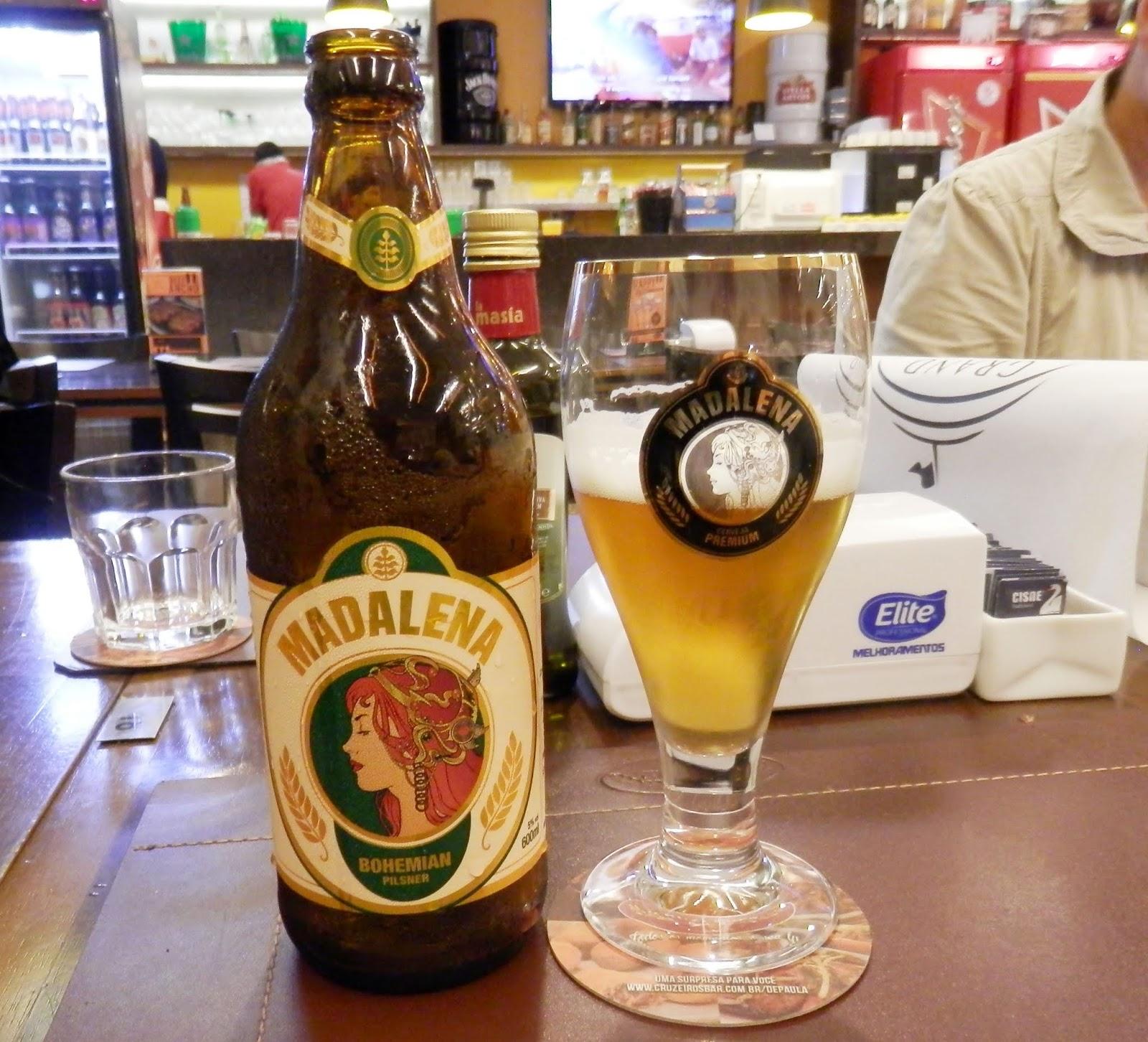 Harmonização de cerveja Madalena com petiscos do Cruzeiro's Bar