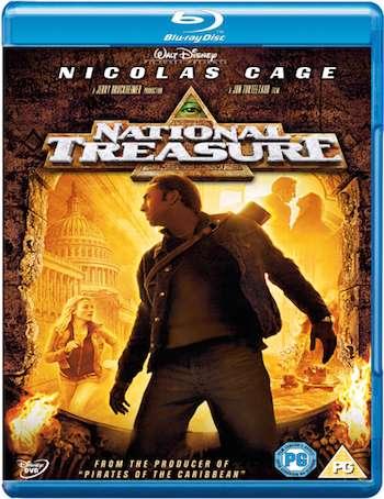 National Treasure 2004 Dual Audio Hindi 480p BRRip 300mb
