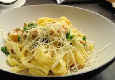 Fettuccine Carbonara: A Soft Creamy Flavoring Sauce