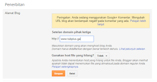 Cara Mudah Mengganti Domain TLD Gratisan dari Freenom Untuk Blogspot
