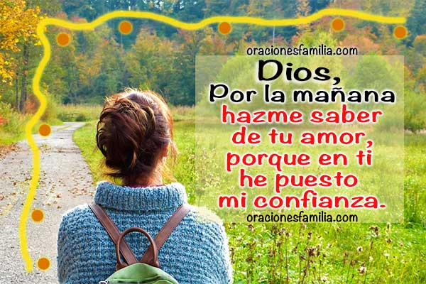 Oración para momentos difíciles, oración de la mañana con el Salmo 143, versículos y oraciones cortas cuando tengo problemas. Imagen con súplica de angustia a Dios.