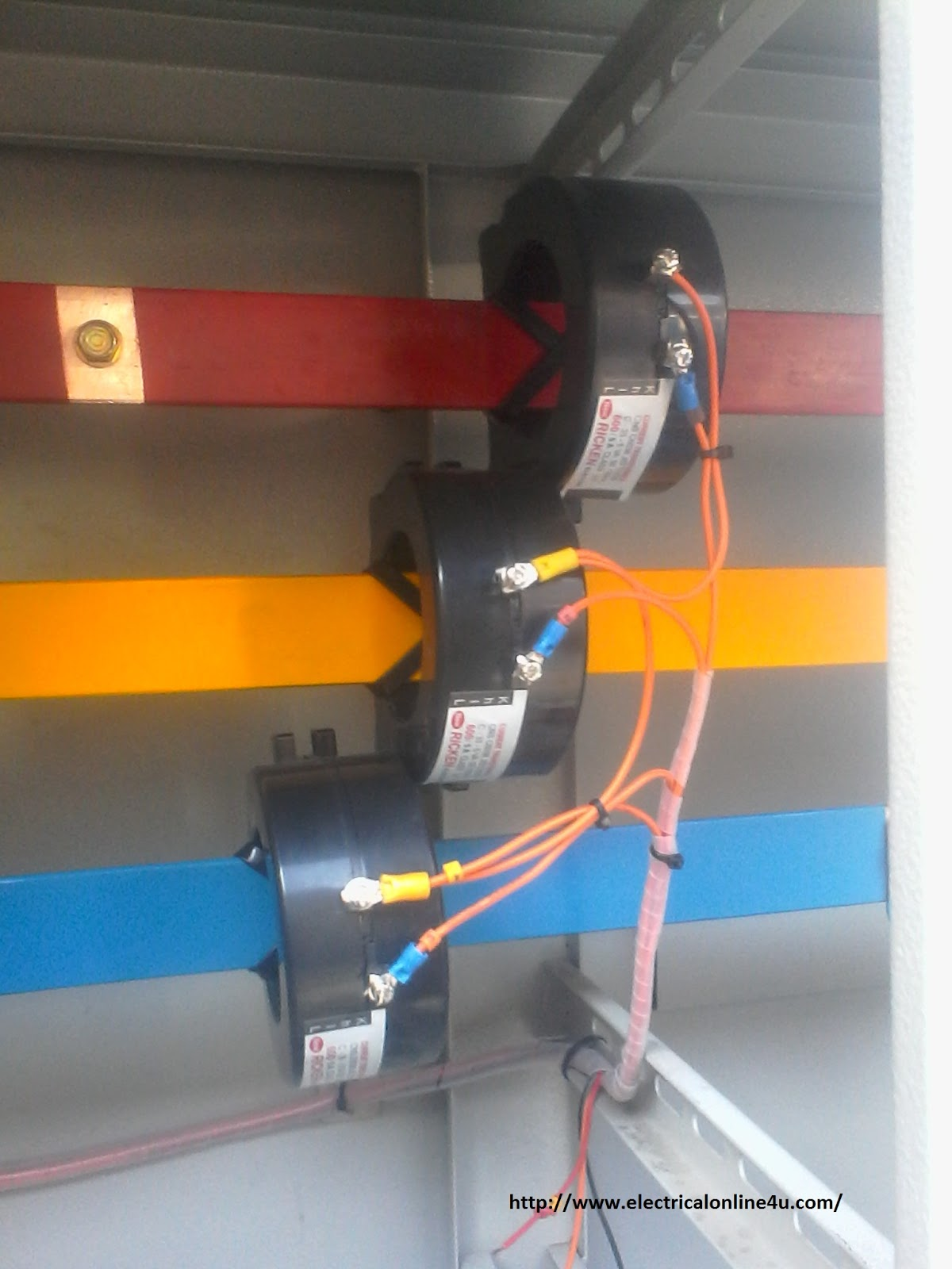 Wiring Diagram Current Transformer : Current transformer installation for three phase power