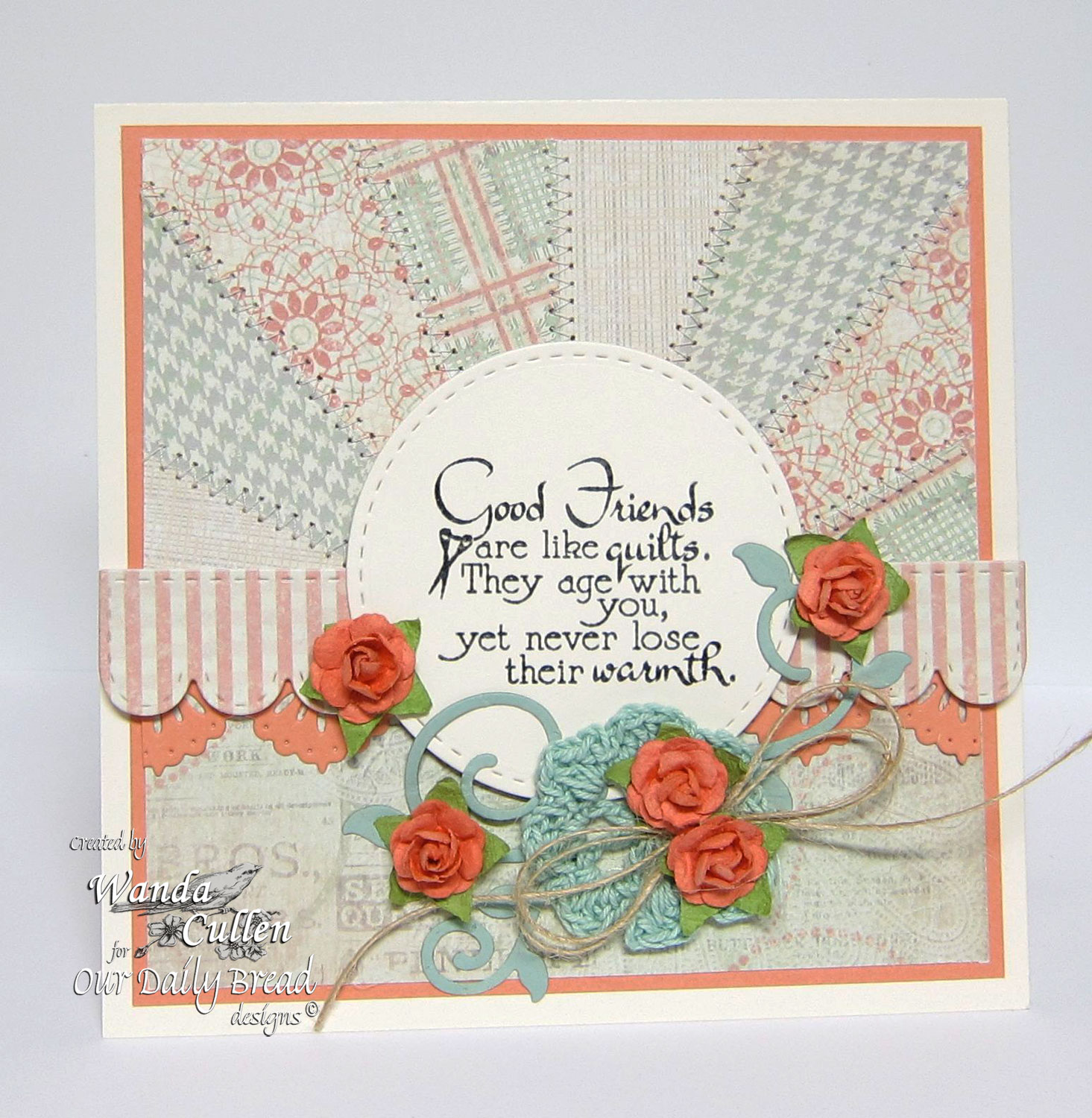 Stamps - Our Daily Bread Designs Quilts, ODBD Custom Beautiful Borders Dies, ODBD Custom Fancy Foliage Die, ODBD Soulful Stitches Paper Collection