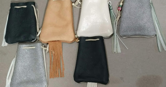 English Flint Steel Leather Medicine Bags For Sale