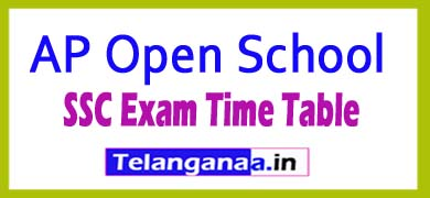 APOSS SSC Time Table AP Open 10th Exam Time Table