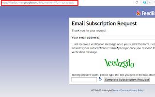 cara membuat subscribe di blog