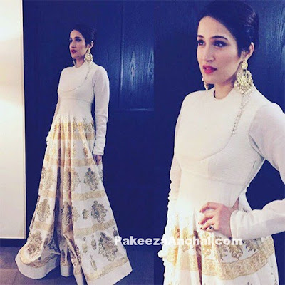 Sagarika Ghatge in Rohit Bal's White Anarkali
