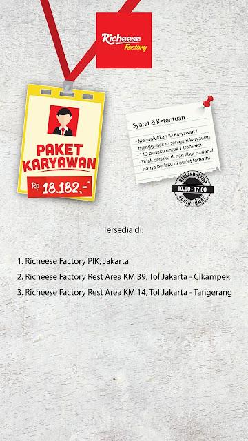 #RicheeseFactory - #Promo Menu Hemat Paket Karyawan & Paket Pelajar