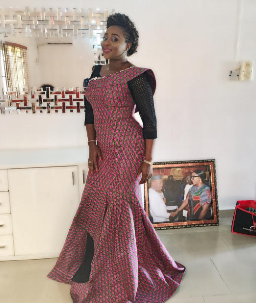 Actress Ini Edo pretty as she steps out in Ankara dresses