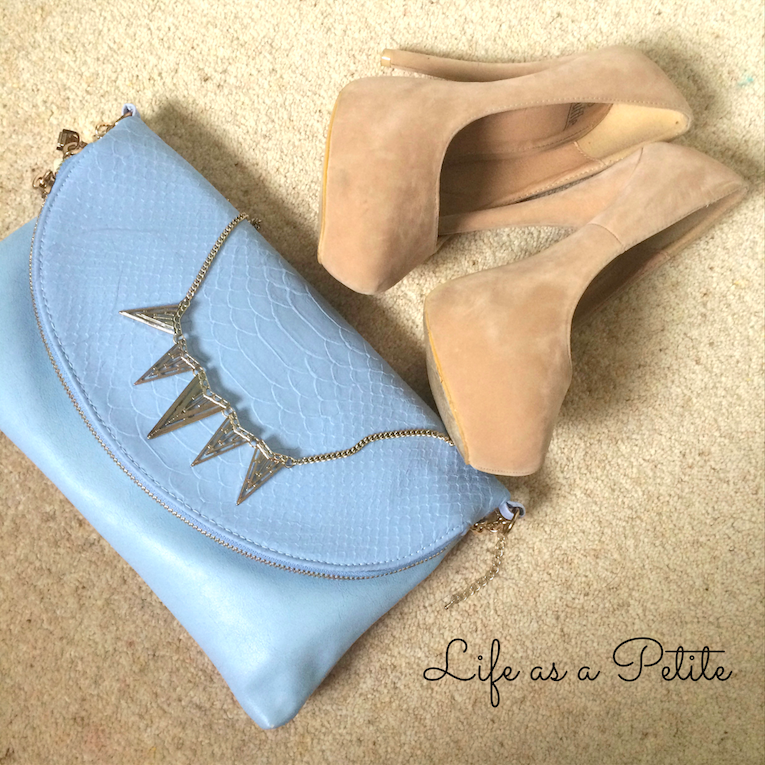 Light Blue Asyemmetric Zip Clutch | life as a petite