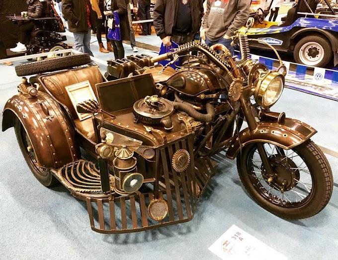 Steampunk Inspired Retro Motorbike