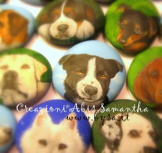 Idee originali  per bomboniere cani sasso