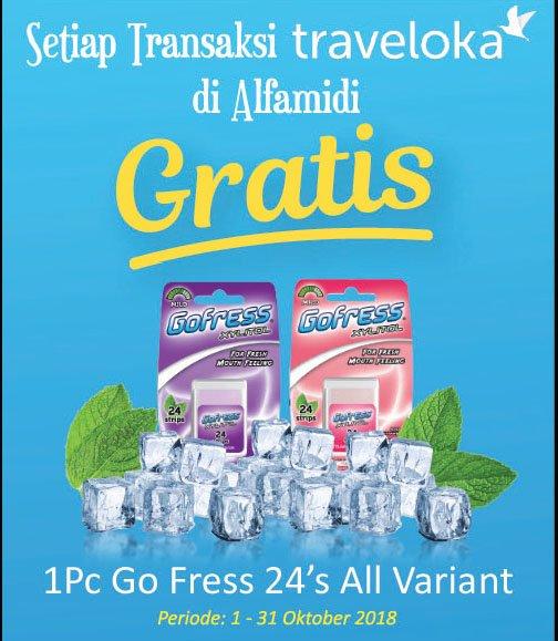 Alfamidi - Promo Bayar Traveloka Gratis 1pc Go Fress 24's All Variant (s.d 31 Okt 2018)