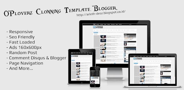 Oploverz-clon Blogger Template [Free]
