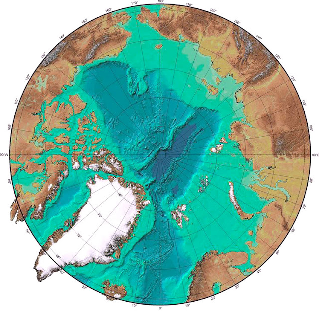 Gambar Peta Laut Artik tampak dari satelit