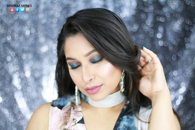 Shahnaz Shimul - Bold and Blue Makeup Tutorial