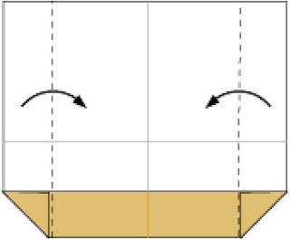 Bước 4: Gấp hai cạnh vào trong