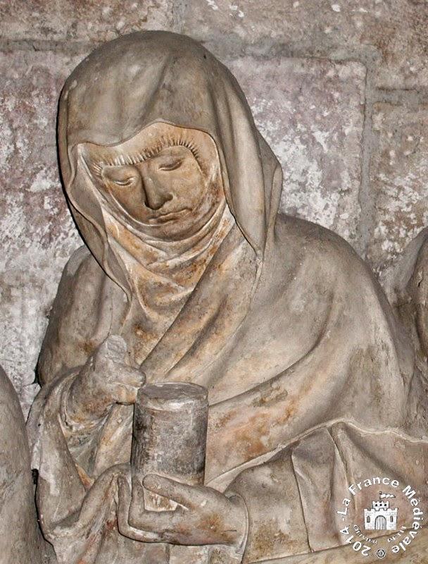 DIJON (21) - Eglise St Michel : Mise au tombeau (XVe siècle)