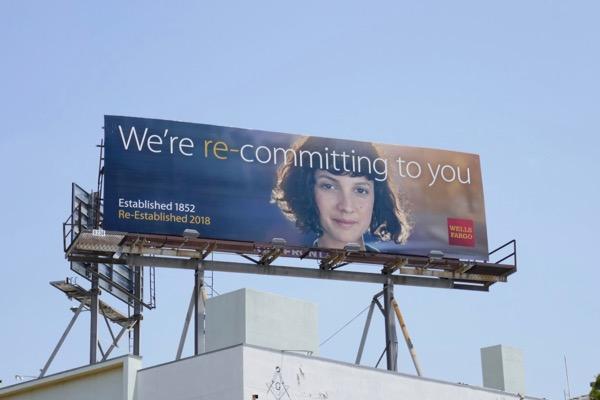 Wells Fargo re-committing to you billboard