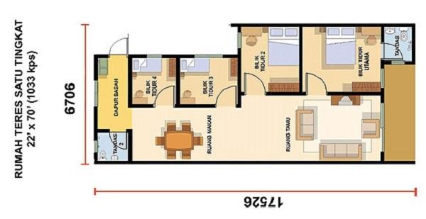 Plan Rumah Kos Rendah Desainrumahid Com