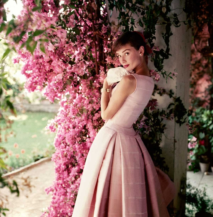 Audrey Hepburn photography exhibition at the National Portrait Gallery, London - Glamour 1955 photograph by Norman Parkinson
