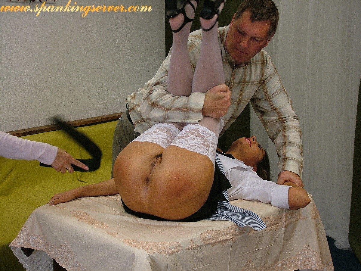 legs spread spanking humiliation