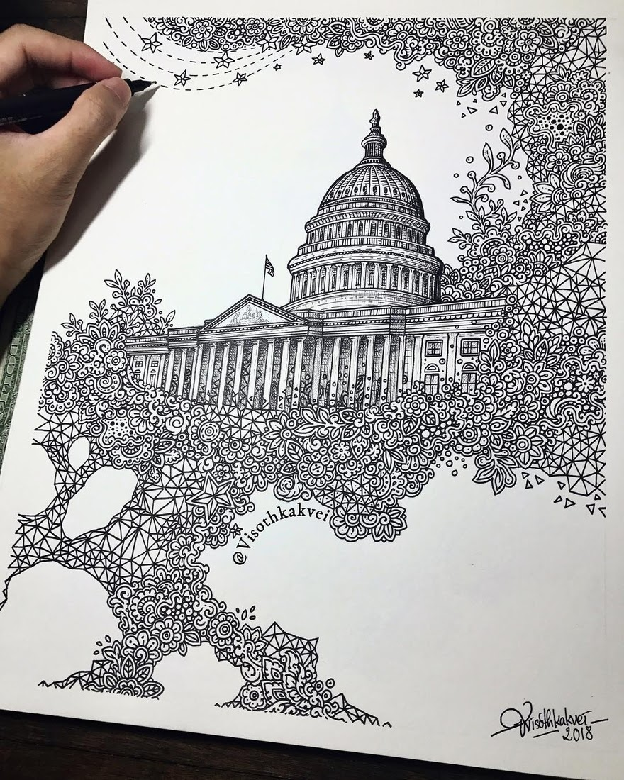 03-The-Capitol-Washington-D-C-Visoth-Kakvei-Detailed-Drawings-with-many-Styles-www-designstack-co