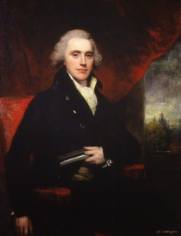 Henry Addington, 1st Viscount Sidmouth  by Sir William Beechey, oil on canvas  engraved 1803 © NPG 5774 (1)