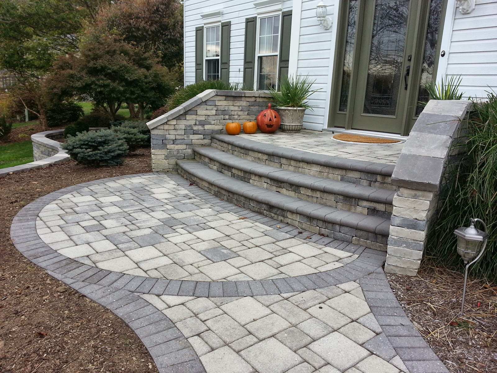 Paver Front Entryway In Woodstock, MD