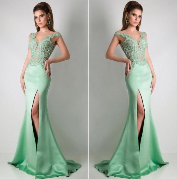 Comprar vestido verde de festa