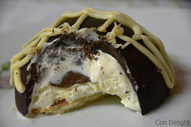 קינוח חצי כדור גלידה hemisphere dessert