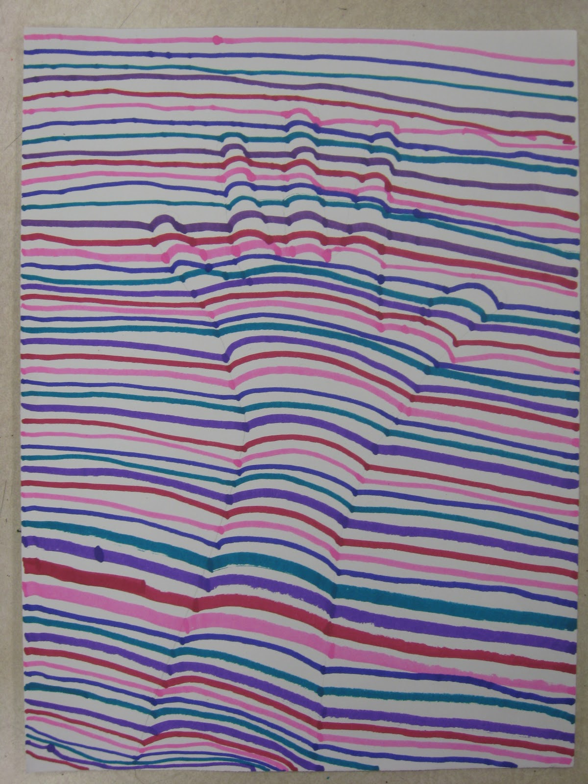 Miss Young S Art Room 3rd Grade Op Art Hands