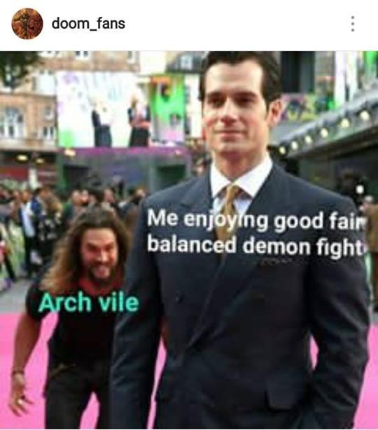 Arch-vile vs.uma luta balanceada contra demônios